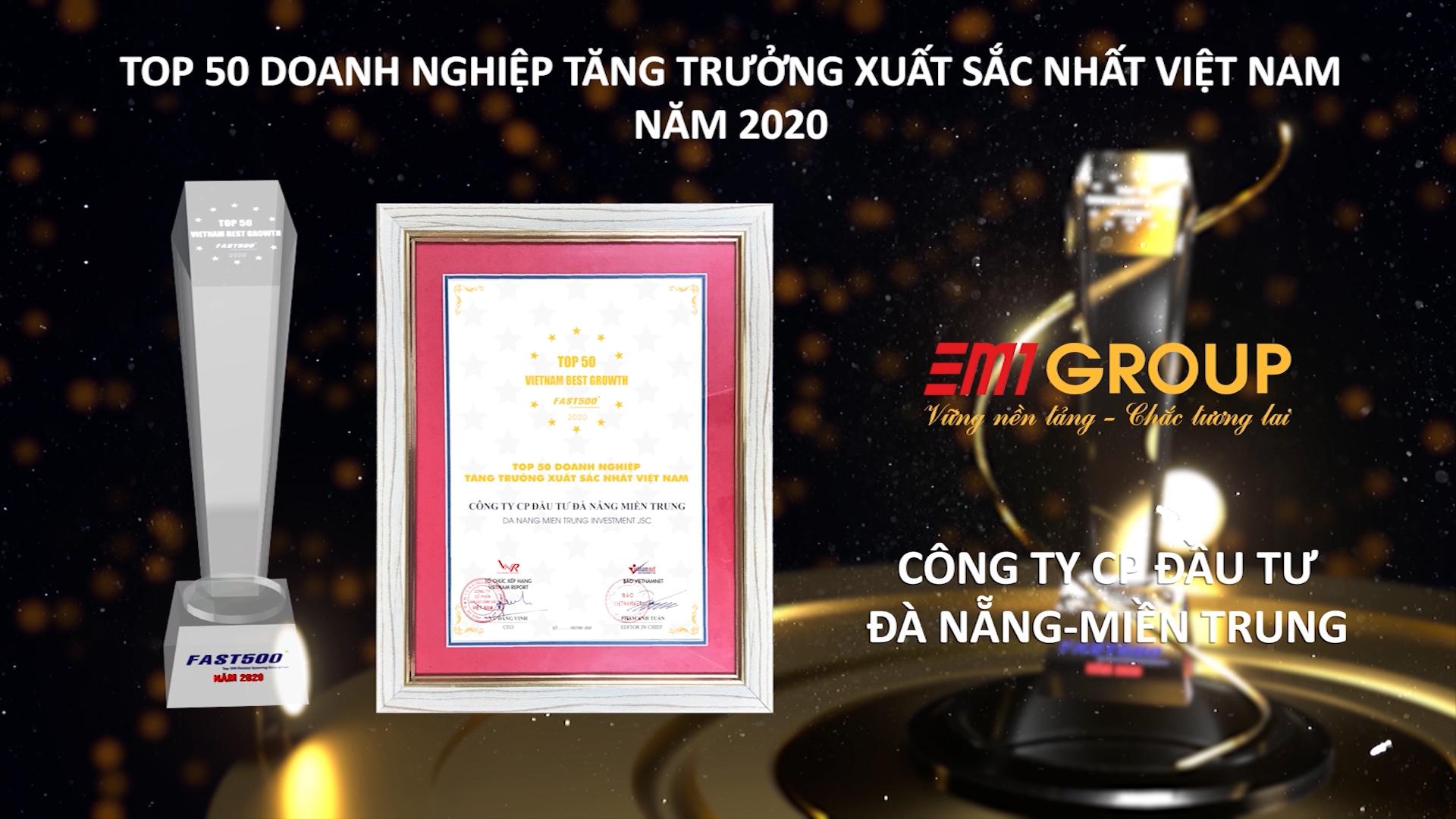 DMT Group - 4 năm liên tiếp lọt vào Top 50 Doanh nghiệp tăng trưởng xuất sắc nhất Việt Nam ( 2017-2020) & 6 năm liên tiếp ( 2015-2020 ) nằm trong top 500 doanh nghiệp tăng trưởng nhanh nhất Việt Nam